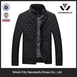 Custom Fashion Men Cheap Black Quilted Jacket Kurti