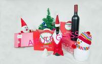 Chrismas designed gift 16oz clear Grape wine glass bottle with cap wholesale
