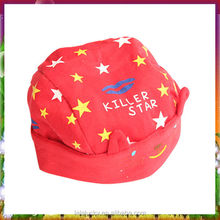 New design bright red toddler baby boys hat thicker velvet baby hat