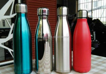 Insulated Double Wall Vacuum Water Bottle, Cola Shaped,stainless steel vacuum cola bottle durable,vacuum flask