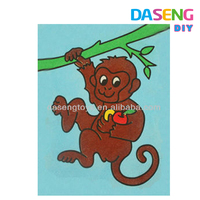 Monkey design colorful sand art drawing for sale
