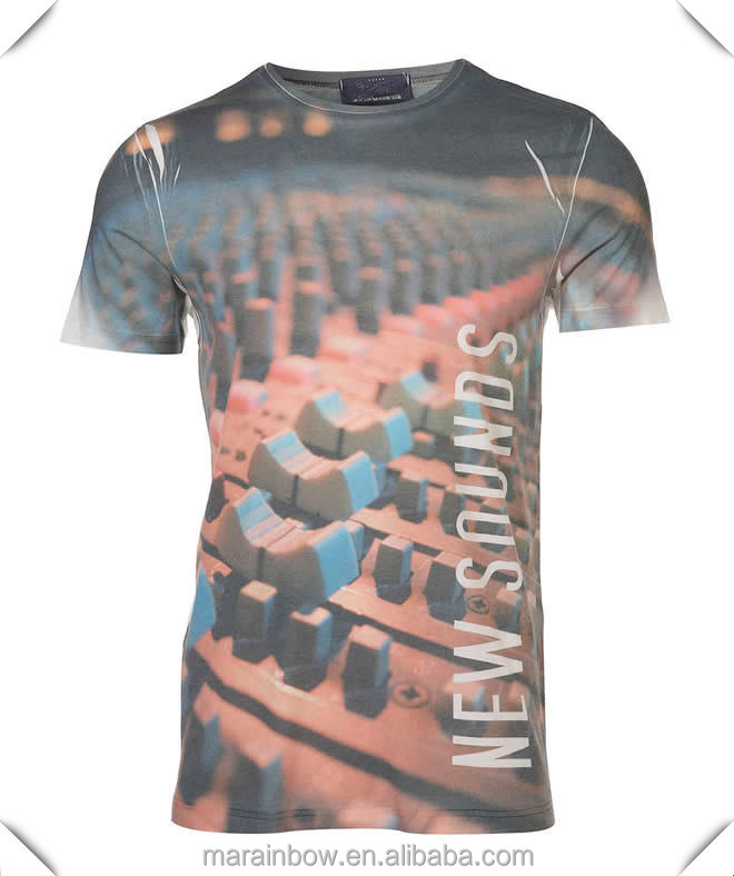 Custom fashion dye sublimation print t shirts apparel oem for All over dye sublimation t shirt printing