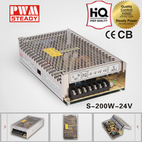 Steady CE S-200-24 24v 8.3a switching portable rechargeable power supply