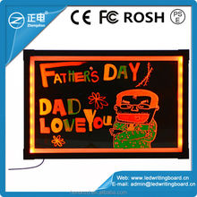 2015 hot selling advertising electronics both haning and desktop led writing boards