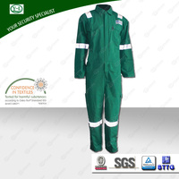 Factory wholesale green color overall for industry oil field coverall