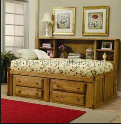moderna in legno super letto singolo con cassetti sotto-Letto-Id ...