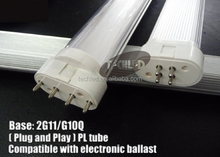 TUV UL RoHS Certification and Aluminum Alloy Lamp Body Material led 2g11 plc 26w