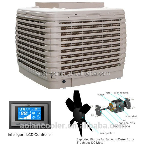 Evaporative Cooling Multi Sycle : Air cooler power kw dc motor inverter multi speed