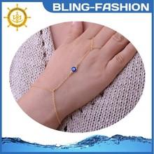 Hot sale charm hand ring evil eye bracelet