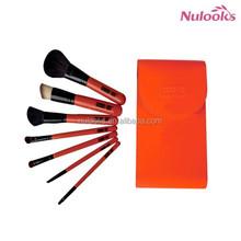 wooden handle makeup brush 7pcs kit