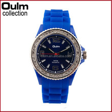 New design quartz watch, diamond case bling bling watches, silicone wristband watch japan movement