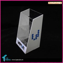 China Supplier Advertising New Products Acrylic Lucite Countertop Display Case Acrylic Electronic Cigarette Display Case