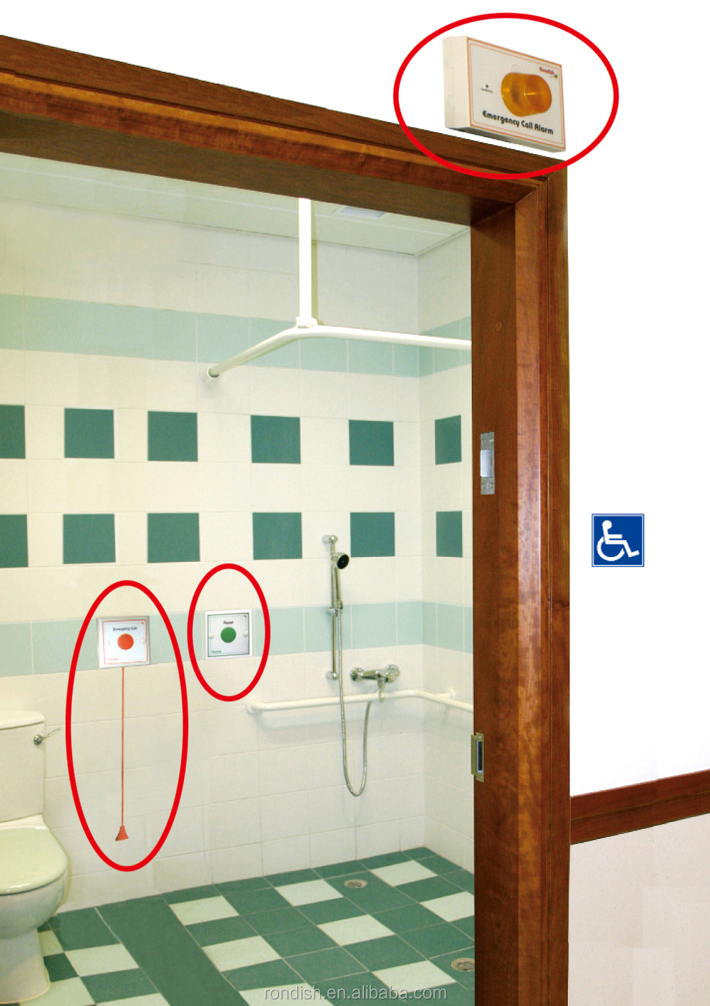 Baño Discapacitados Unit:Bathroom Emergency Patient Call Systems