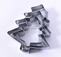3pieces Stainless steel christmas tree Cookie metal Cutter Mold Fondant Cake Decoration Sugar paste craft Biscuit mould