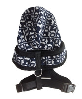 Dog harness with cap/hat