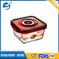 Space-saving Grain container for Microwave oven and Friage glass food storage jars