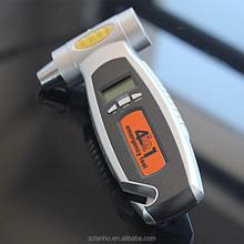 4 in1 Car safety hammer car tire pressure gauge life-saving hammer