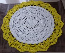 Crochet T-shirt rug, Mandala T-Shirt Rug