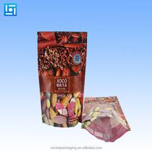 Plastic aluminum foil packaging bag for food/aluminum foil food plastic bags/resuable snack food bag with custom printed