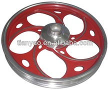 customized surface finished casted aluminum wheel hub