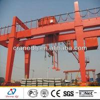A-frame stock yard heavy duty lifting hook gantry crane
