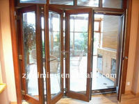 Debridged Aluminum Folding Doors folding door style