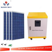Muebles de alta calidad de 5 kW generador solar energía solar fotovoltaica para los pequeños de la casa TY084D
