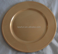 disposable gold charger plate Beaded