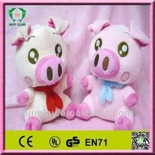 HI CE stuffed plush pink pig toy