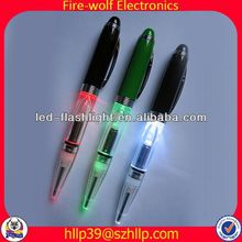 2014 China Supplier New Style Colourful Led Flashing bookmark ball pen