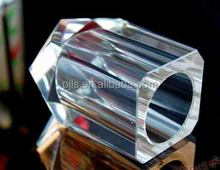 high quality square clear K9 crystal pen holder with no base for desktop stationary