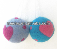 2014 Christmas tree ornament ( woolen balls)