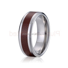 finger fashion jewelry wood titanium ring