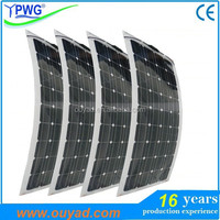 Marine semi flexible solar panel 100W 150W 160W with high quality