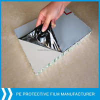 metal or plastic sheet protective film/clear plastic protective film