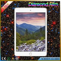 Quality guaranteed golden color diamond touch screen protector/guard/film for ipad mini 3
