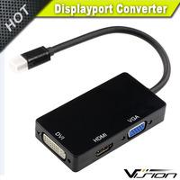 Mini Display Port DP to DVI VGA HDMI TV AV HDTV Adapter cable 3 in1 for Mac