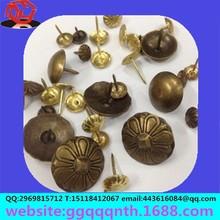 Hardware furniture garment bags accessories antique stainless steel Antique flower cap round mushroom head shoe sofa nails