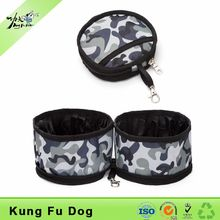 easy clean portable double pet food water bowls dog feeder