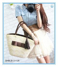 High-grade Export Lace Straw Bag Fashion Style Beach Bag