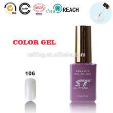 Uñas de gel barato uñas gel uv en blanco perla de uñas de pintura