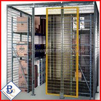 colored antique cheap Heavy Duty Equipment Galvanized Metal Storage Cages China factory Wire mesh pallet storage cage