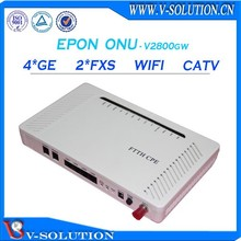 Triple play ftth gepon onu 2fxs+4ge ip tv set top box onu