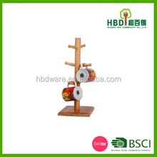 2015 latest product of China WOOD Mug Tree/cup holder/rack