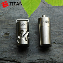 Creative Gift Eco-friendly Material CNC Processed Titanium Canister Tiny Pill Box Smart Pill Container