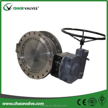 Motorised gear operated high temperature butterfly valves