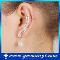 Jewelry wholesale cheap china dangling pearls earrings and ear cuffs