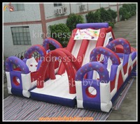 CE Certification Double stitching inflatable slide, house jumping games, slide&climb tunnel combo
