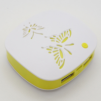 Round Shape Portable Mini Butterfly Design Power Tools 3000mah - 5200mah For Mobile Phone