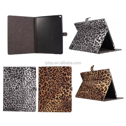 2015 Hot Selling Leopard Grain Luxury PU Flip Leather Phone Case For iPad Pro